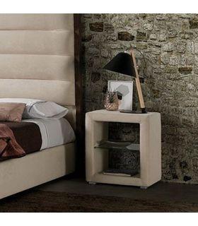 Mesita Moderna de Dormitorio Tapizada modelo CASTELLON LD