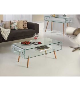 Comprar online Mesa de Centro de cristal templado Modelo GLASS