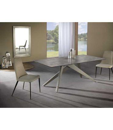 Mesa de Comedor en metal y porcelánico Modelo KIOS