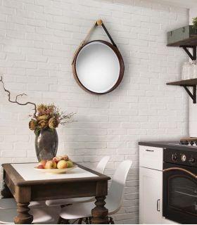 Comprar online Espejo Decorativo en Piel Sintética Modelo PORTO PQ