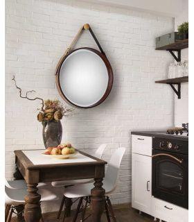 Comprar online Espejo Decorativo en Piel Sintética Modelo PORTO GR