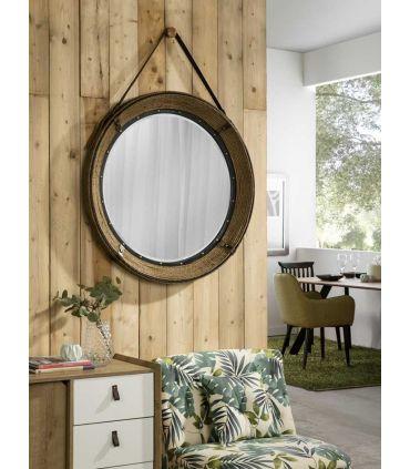 Espejo Redondo con marco de cuerda Modelo BRIGHTON