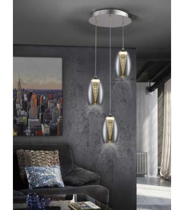 Lámpara de Estilo Moderno NEBULA 3 Luces