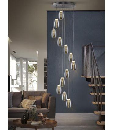 Lámpara Espiral con 12 Luces LED Colección NEBULA
