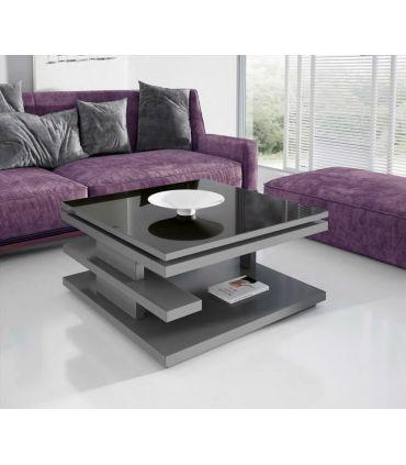 Mesa de centro moderna con cristal elevable Modelo OVIEDO
