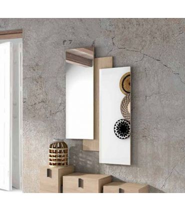 Espejo Decorativo con base de madera CHIPRE