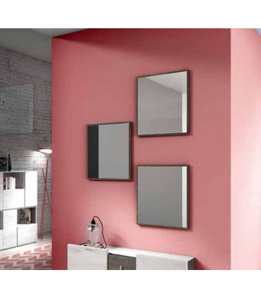Set de 3 Espejos con marco fino de madera SAMOS