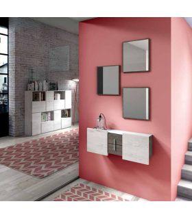 Comprar online Set de 3 Espejos con marco fino de madera SAMOS