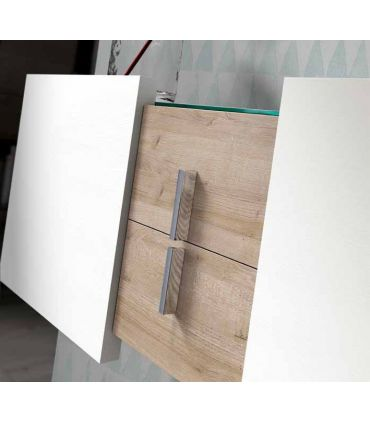 Consola Suspendida de Madera Modelo MALTA Blanca