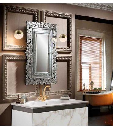 Espejo Veneciano con lunas talladas Modelo CLEOPATRA pequeño