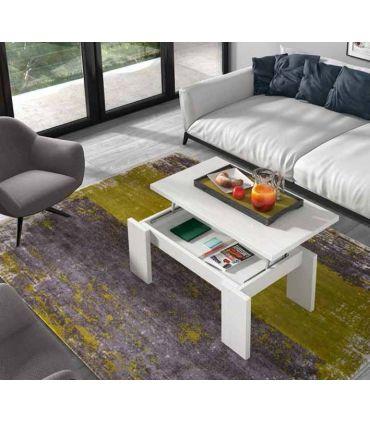 Mesa de centro elevable realizada en madera SIMPLEX
