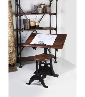 Comprar online Mesa Escritorio Estilo Industrial con Taburete Colección PIPA