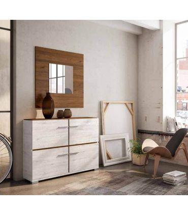 Espejo Cuadrado de madera ESTORIL