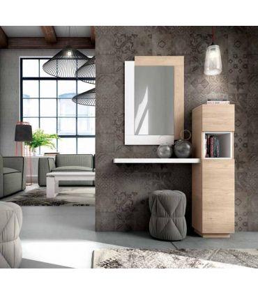 Mueble de recibidor vertical con estante modelo TORRE