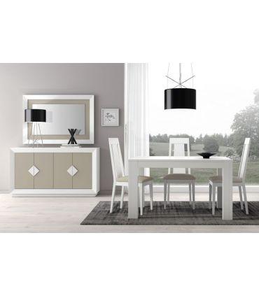 Mesa de Comedor extensible en madera modelo SELINA