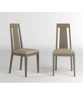 Comprar online Set de 2 Sillas de maderas con asiento tapizado SELINA