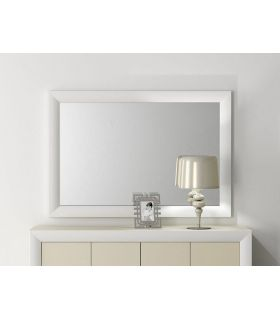 Comprar online Espejo con marco curvo de madera VICTORIA