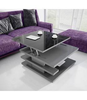 Comprar online Mesa de centro moderna con cristal elevable Modelo OVIEDO