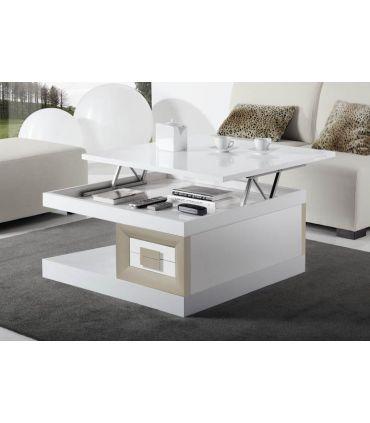 Mesa de centro de Diseño moderno Cuadrada Elevable PAMPLONA