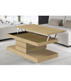 Comprar online Mesa de centro moderna chapada en madera FORMENTERA
