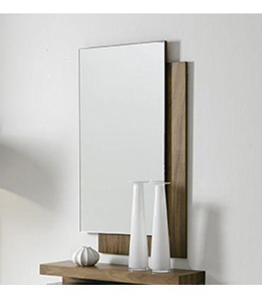 Espejo de diseño moderno realizado en madera HALL