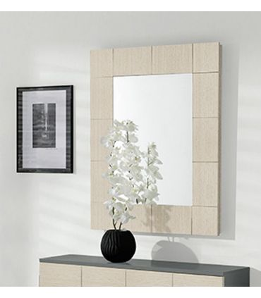 Espejo decorativo en chapa de madera HABITAT
