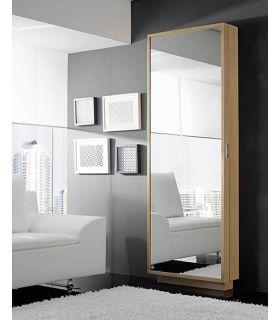 Comprar online Zapatero con frontal espejo vestidor en madera de haya COSMOS