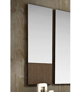 Comprar online Espejo rectangular decorativo con plafón de madera LEVEL