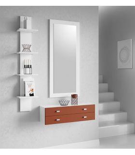 Comprar online Espejo rectangular en madera de Roble LIVORNO