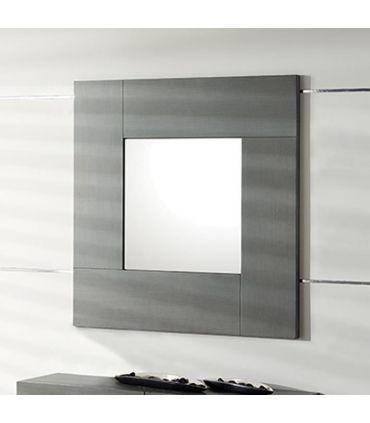 Espejo cuadrado chapado en madera MELBOURNE