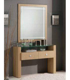 Comprar online Espejo de madera con luna serigrafiada CAPRICCIO