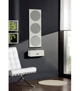 Comprar online Espejo rectangular decorativo con lunas de espejo redondas KOBE