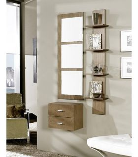 Comprar online Espejo rectangular decorativo con 3 lunas cuadradas PORTUGALETE