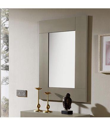 Espejo rectangular chapado en madera modelo SUITE