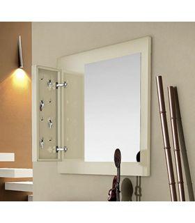 Comprar online Espejo de madera con Cuelga llaves TUAREG
