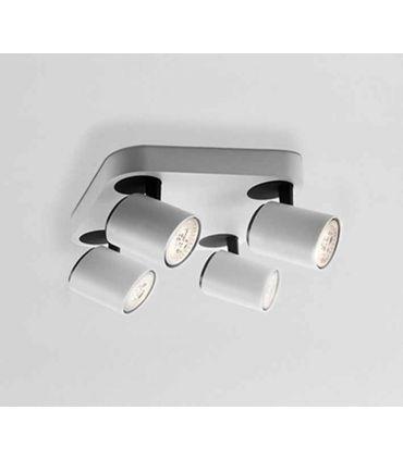 Plafón cuadrado de 4 luces Led colección Turn Schuller