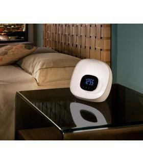 Comprar online Lamparita con reloj, despertador y radio modelo SUNRISE