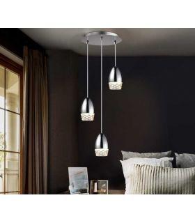 Comprar online Lámpara de Techo Luz Led colección ALESSA 3 Cromo Schuller