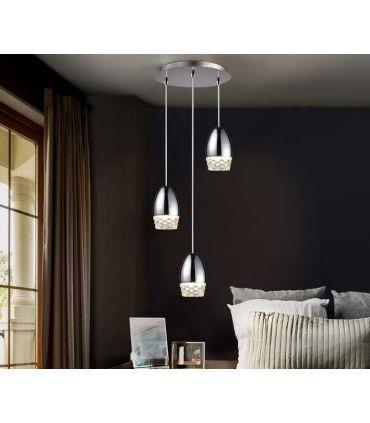 Lámpara de Techo Luz Led colección Alissa 3 Cromo Schuller