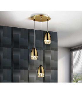 Comprar online Lámpara de Techo Luz Led colección ALESSA 3 Oro Schuller