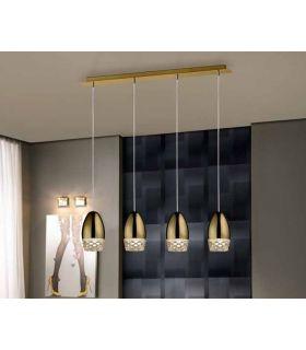 Comprar online Lámpara de Techo Luz Led colección ALESSA 4 Oro Schuller