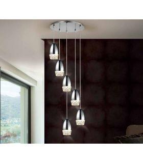 Comprar online Lámpara Moderna Luz Led colección ALESSA 6 Cromo Schuller