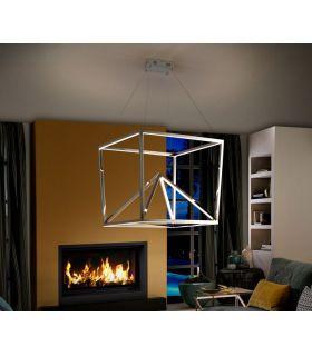 Comprar online Lámpara Moderna de acero pulido colección OBLIC Schuller