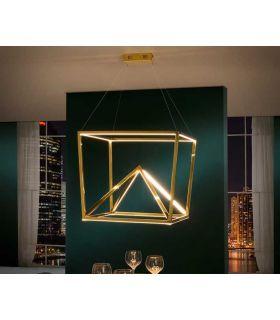 Comprar online Lámpara en acero inóxidable pulido modelo OBLIC Oro Schuller