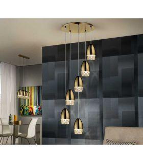 Comprar online Lámpara Moderna Luz Led colección ALESSA 6 Oro Schuller