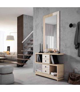 Espejo rectangular de madera modelo MIRANDA