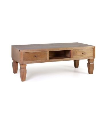 Mesa de centro en madera de Mindi Colección KAKI