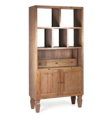 Mueble librería de estilo Rústico y Colonial colección KAKI