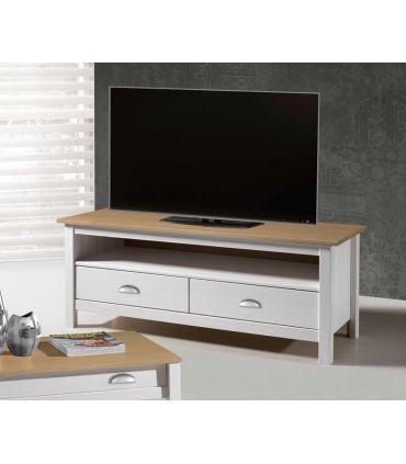 Mueble de Televisión 2 Cajones : Colección JADE Blanco