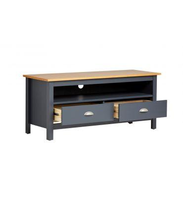Mueble de Televisión 2 Cajones : Colección JADE Antracita